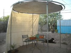 make shade with old trampoline