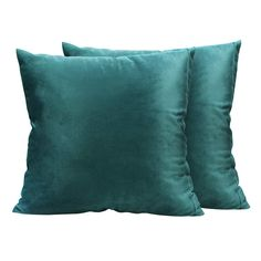 UROOM Decorative Throw Pillow Covers, Solid Velvet Square Cushion Cases Set of 2 for Couch Sofa, 18 X 18 inches Decorative Pillow Covers, Throw Pillow Covers, Couch Sofa, Cushions, Velvet, Cases, Blue Prints, Throw Pillows, Toss Pillows