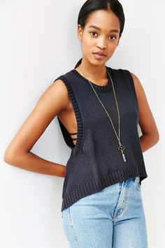 Mouchette High/Low Muscle Sweater