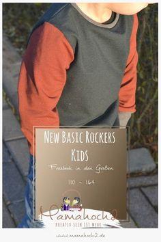 Nähanleitung – New Basic Rockers 110 – 164 freebook shirt langarmshirt pullover nähen anleitung kostenfrei schnittmuster
