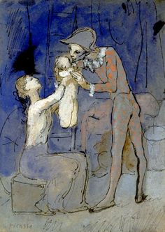 Pablo Picasso, Harlequin Family,1905; I never cared much for Picasso, but his blue and rose period pieces are delightful.