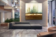 Original Canvas Wall Art Abstract Acrylic Painting Modern image 3 Large Wall Canvas, Extra Large Wall Art, Canvas Wall Art, Modern Wall Decor, Wall Art Decor, Colorful Artwork, Abstract Canvas Art, Large Painting, Bedroom Paintings
