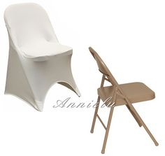 White folding spandex chair covers #wedding #chaircovers #beautiful #chaircover #spandex #folding