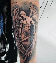 Mens Forearms Handsome Guardian Angel Tattoo , click now. Tattoos 3d, Tattoos Arm Mann, Arm Tattoos For Guys, Couple Tattoos, Body Art Tattoos, Sleeve Tattoos, Tattoo Designs And Meanings, Tattoos With Meaning, Tattoo Designs Men
