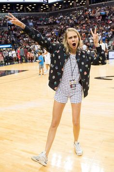 Cara attends the 2014 Summer Classic Charity Basketball Game at Barclays Center