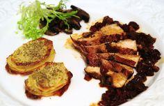 Livianas y deliciosas, pechuguitas en jugo de vino malbec