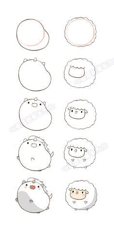 How to draw kawaii llama drawing unicorn and lamb a how do you draw kawaii cat . how to draw kawaii Kawaii Doodles, Cute Doodles, Random Doodles, Easy Doodles, Doodle Drawings, Cute Drawings, Simple Animal Drawings, Beautiful Drawings, Super Easy Drawings