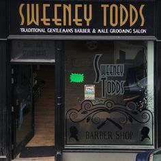 """Barber shop """"Sweeney Todds"""" in Londonderry, Northern Ireland. Photo by Dmitri Korobtsov."""