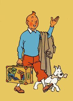 Triste anniversaire pour Tintin Tintin Costume, Tin Tin Cartoon, Character Art, Character Design, Lucky Luke, Bd Comics, Disney Art, Comic Strips, Vintage Posters
