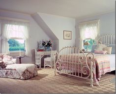 Probably what Frances' childhood bedroom looked like. Although, since she's not married and doesn't have a boyfriend, she probably still lives with her parents. So, her room is probably still like this.