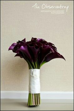 Bouquet Featuring Large Aubergine Calla Lilies×××××××××××××××××××××