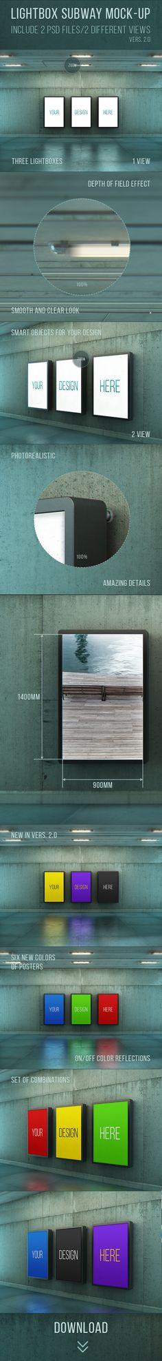 Poster Urban Subway Lightbox Mock-ups on Behance