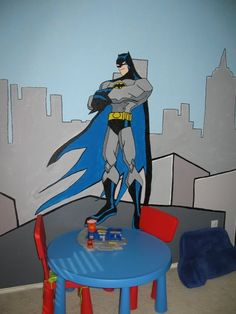 Alexander's superhero room I painted