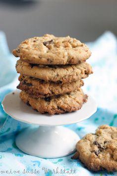 peanut butter chocolate cookies / Erdnussbutter-Schoko-Cookies