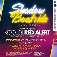 Repost @shadowtheclub_club28 with @repostapp  GRAND OPENING TUESDAY JUNE 21st!! 7PM!  PIER 40. WEST SIDE HIGHWAY AND HOUSTON STREET!! THE MOST FUN U CAN HAVE ON A TUESDAY NIGHT IN NYC!! Music by the #legendary @kooldjredalert along with @yungstar63tfys  and of course DJ GODFREY ON THE CARIBBEAN LEVEL!! Special guest DJ's @therealwebstar @lovebugstarski @iamdjamazin @djmartian  #shadow #instagood dj #djs Rap BattleDjs #ClubDjs  #Hiphop #Jazz  #Talnts #supermodels #HouseMusic #Reggae…