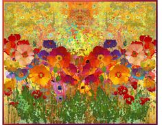 """""""Klimt's Poppies"""" by telynor on Polyvore"""