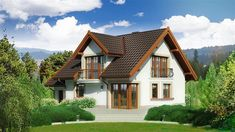 Zdjęcie projektu Dom przy Cyprysowej 14 D KRK1470 Bungalow House Plans, Home Fashion, New Homes, Exterior, House Design, House Styles, Home Decor, Outdoors, Ideas