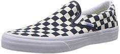 Vans Classic Slip-on Shoes - Dress Blues/white Checker - http://on-line-kaufen.de/vans/8-uk-vans-u-classic-slip-on-overwashed-unisex