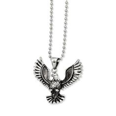 stainless-steel-antiqued-screaming-eagle-pendant-necklace