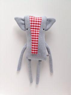 Plush Elephant Friend- Finkelstein's Center Handmade Creature