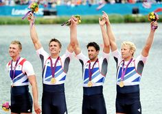 Team GB Medals 2012  22. Men's Four Rowing Team (Pete Reed, Andrew Triggs Hodge, Alex Gregory and Tom James) - GOLD  (Rowing: Men's Four)