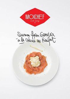 """Saumon façon Gravlax à la crème au Raifort du restaurant """"Chez Yannick"""""""