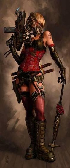 Wondering what is Steampunk? Visit our website for more information on the latest with photos and videos on Steampunk clothes, art, technology and more. Harley Quinn, Joker And Harley, Manga Comics, Bd Comics, Cyberpunk, Diesel Punk, Fantasy Anime, Fantasy Art, Heroine Marvel