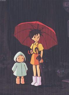Tonari no Totoro Kusakabe Satsuki & Mei ~. Studio Ghibli Art, Studio Ghibli Movies, Manga Anime, Anime Art, Hayao Miyazaki, Zoro Roronoa, Girls Anime, Howls Moving Castle, My Neighbor Totoro