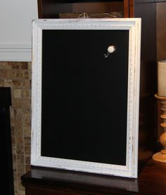 Large, Ornate, Distressed, White, Vintage-Framed, Magnetic, Chalkboard Wedding/Home/Restaurant (19 x 24 3/4 inches) by PoshPilfer on Etsy