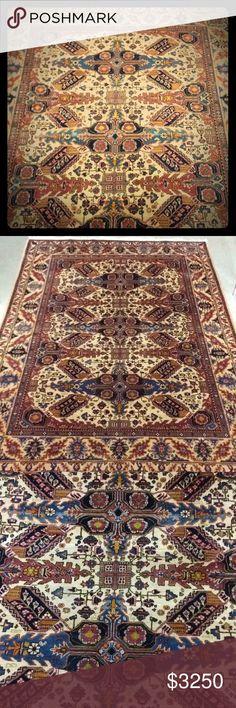 Diligent 2x2.5 Antique Silk Kaisary Rug Mat Antiques