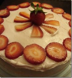Strawberry Lemonade cake that Juli requested for her birthday.