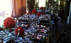 bridal shower teonnas floral design  red and black fun & Beautiful
