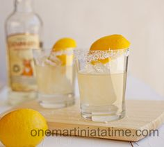 Salty Lemonade Tequila Cocktails recommended by Bitchin Kitchen Cookbook author Nadia G