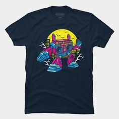 Comic Boombox Robot is a T Shirt designed by MisfitInVisual and is available at Design By Humans Baseball Tees, Boombox, Trending Fashion, Robot, Tank Man, Shirt Designs, Pullover, Hoodies, Comics
