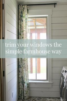 Simple window trim and how to get it even if your windows are surrounded by boring drywall. A simple step to achieving that dream modern farmhouse look. Farmhouse Trim, Farmhouse Windows, Country Farmhouse Decor, Farmhouse Style Kitchen, Farmhouse Interior, Modern Farmhouse Kitchens, French Farmhouse, Farmhouse Plans, Farmhouse Design