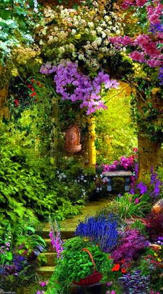 Garden entry in Provence, France