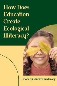 Does schooling help students build an ecologically literate life? David Orr's book, Earth in Mind: On Education, Environment, and the Human Prospect, seems as relevant today as when it was first published a few decades. Schooling is failing to do what society and children need. Orr explores how contemporary culture and education got off track. He identified six myths now on the kindredmedia.org blog. Ecology, Nest, Environment, Track, Students, David, Earth, Culture, Contemporary