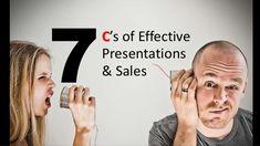 7 C's of Effective Presentations & Sales Skills