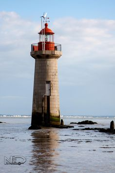 The Lighthouse of the Grand-Charpentier is a monument in the municipality of Saint-Nazaire (Loire-Atlantique, Pays de la Loire) France Nc Lighthouses, St Nazaire, Grands Lacs, Lighthouse Keeper, Germany And Italy, Beacon Of Light, Light Of The World, Water Tower, Dark Places