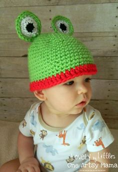 Frog Crocheted Hat
