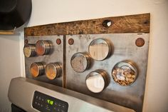 Ooooh, I want these: Metal Panels for backsplashes wall covering etc by roughsouthhome, $20.00