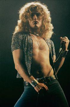 Robert Plant in 1975 at the LA Forum, Los Angeles, CA.