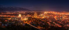 500px / Salt Lake City at Night : (5ft Pano) by RC Concepcion