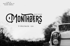 Normal Price $17 Monthoers is handmade modern vintage textured display typefaces, which is combining the style of classic typography with an modern...