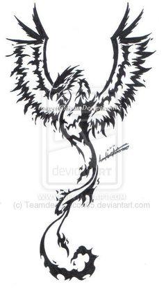 Phoenix tribal tattoo