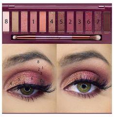 Skin Makeup, Eyeshadow Makeup, Beauty Makeup, Makeup Style, Sparkly Eyeshadow, Makeup Dupes, Makeup Brushes, Urban Decay Makeup, Urban Decay Eyeshadow