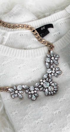 Glam And Glitter Statement #Necklace