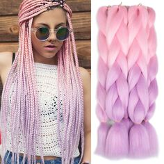 Xtrend ombré two tone hair Synthetic Rainbow Hair Jumbo Braids Crochet