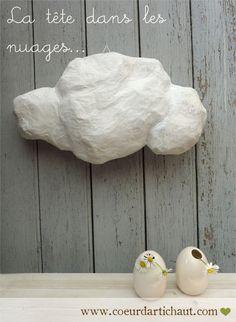 http://www.leblog.coeurdartichaut.com/2011/04/sur-un-petit-nuage-projet-en-papier-mache-version-1/  blog de coeur d'artichaut