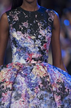 Beautiful dress details at Elie Saab Haute Couture